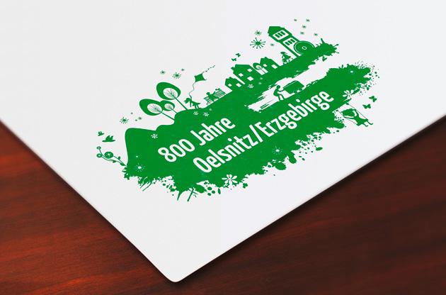800 Jahre Oelsnitz Logo